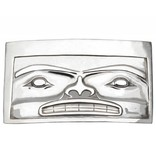 Casted Silver Chilkat Belt Buckle