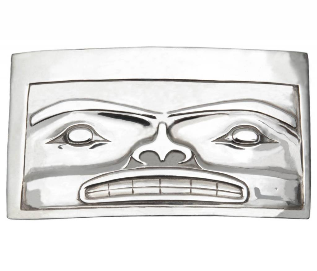 Casted Silver Chilkat Belt Buckle