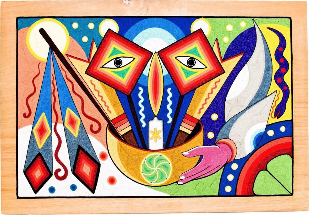 Yarn Painting by Neikame (Huichol).