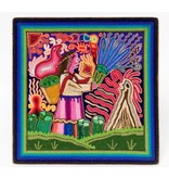 Yarn Painting by Cecilio Carrillo Bonilla (Huichol).