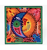 Yarn Painting by Santos Jimenez (Huichol).