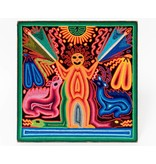 Yarn Painting by Santos Daniel (Huichol).