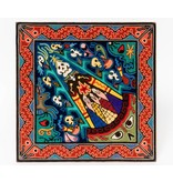Yarn Painting by Luis Castro (Huichol).