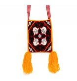 "Hand Woven 10"" by 8"" Medicine Bag (Huichol)."