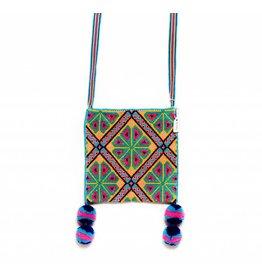 "Hand Woven 6"" by 6"" Medicine Bag (Huichol)."