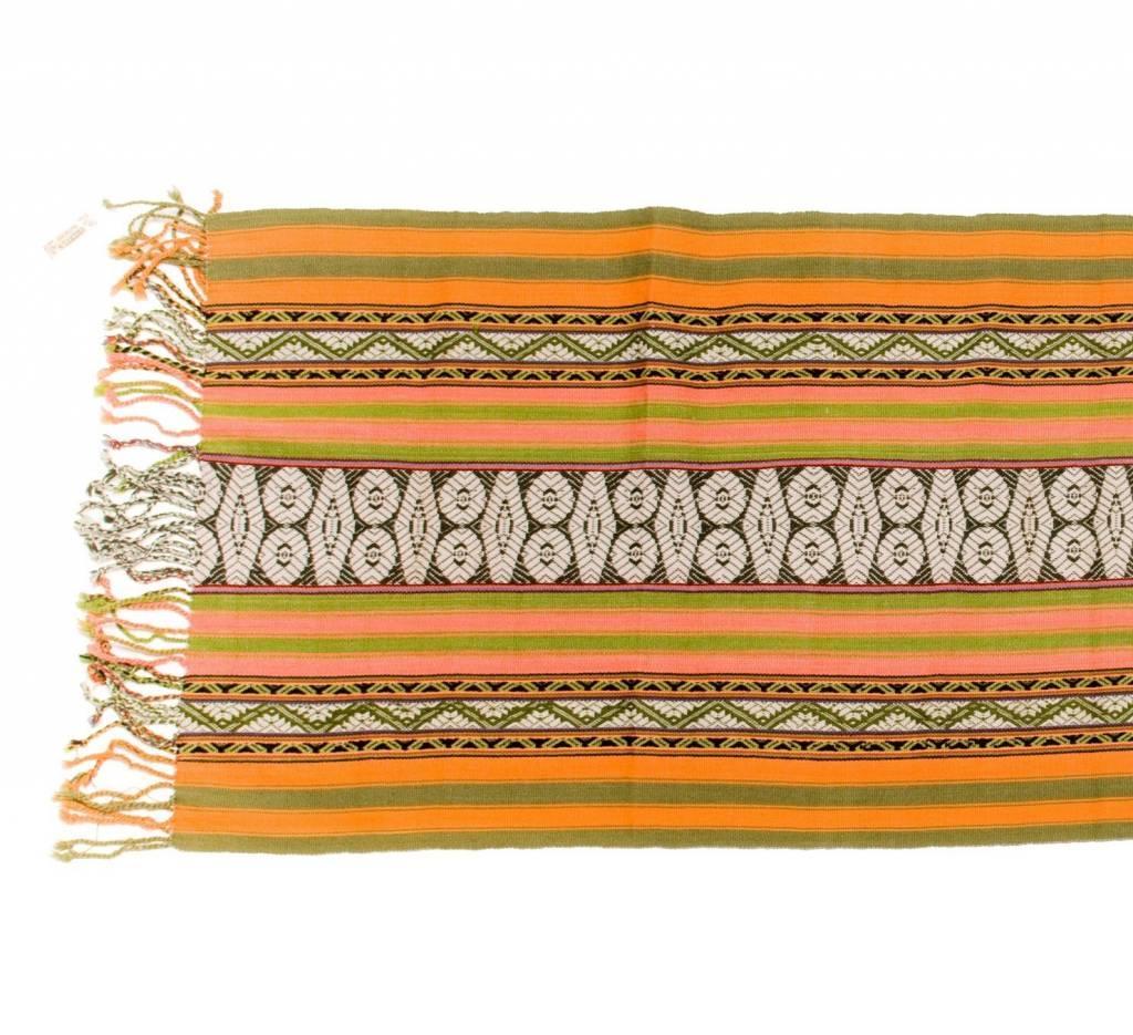"Inca Hand Loomed Shawl 66"" by 22 1/2"""