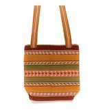 "Inca Hand Sewn Shoulder Bag from Hand Loomed Cloth - 11 .5"" by 11 .5"""