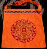 """14"""" by 15"""" Medicine Bag by Elisa Vargas (Shipibo)."""