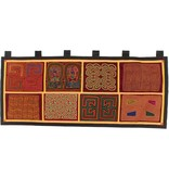 Wall Hanging constructed from 8 Molas (Kuna).