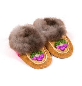 Traditional Childrens' Moosehide Mocassins.