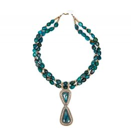 Tyrone Turquoise Necklace by Randy and Etta Endito