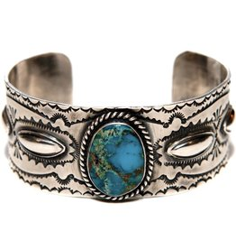 Bisbee Turquoise Bracelet by Etta and Randy Endito