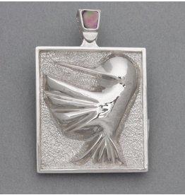 Repousse Hummingbird Pendant