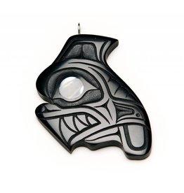 Argillite Orca Pendant by Calvin Bell.