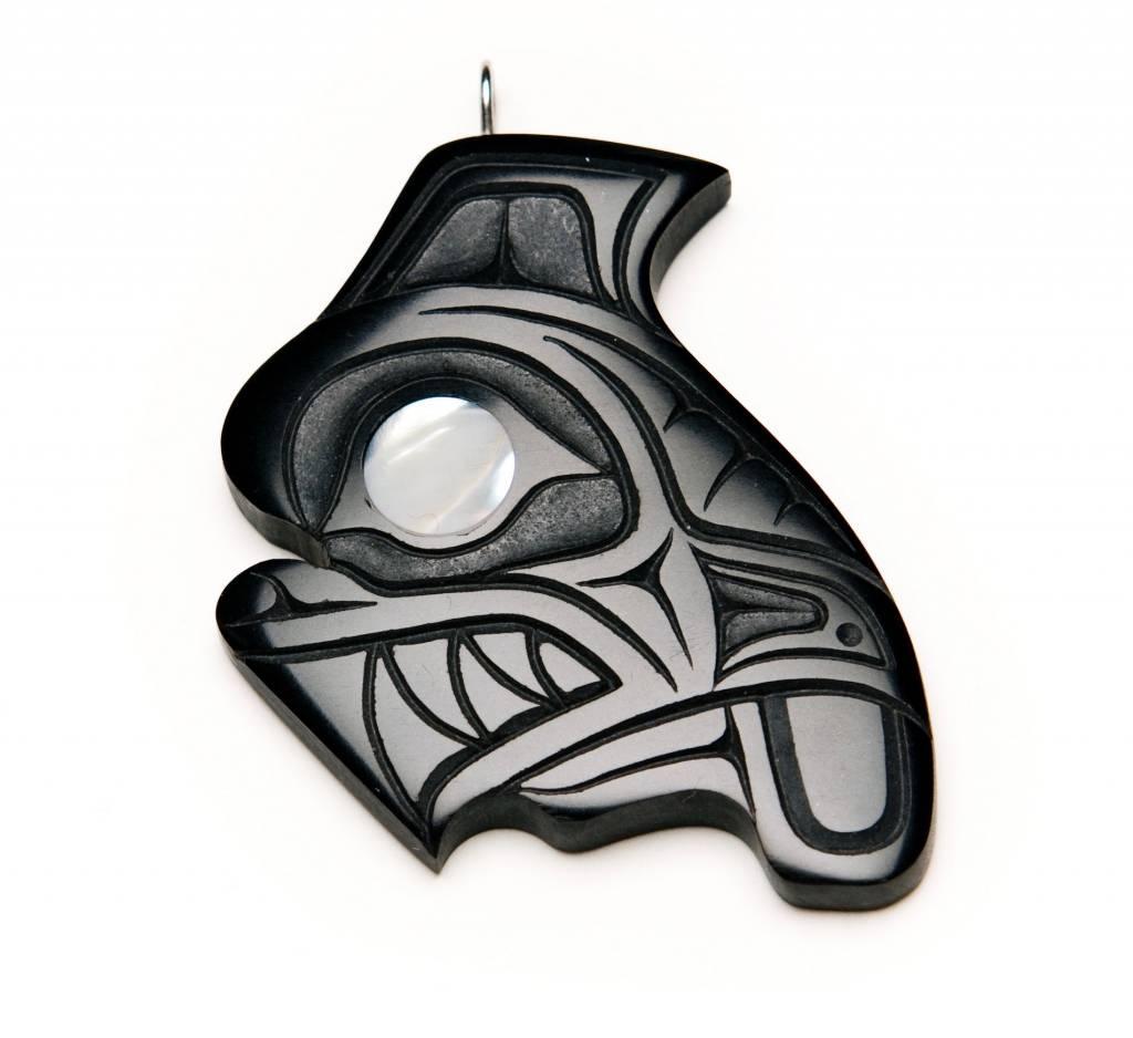 Haida Argillite Orca Pendant