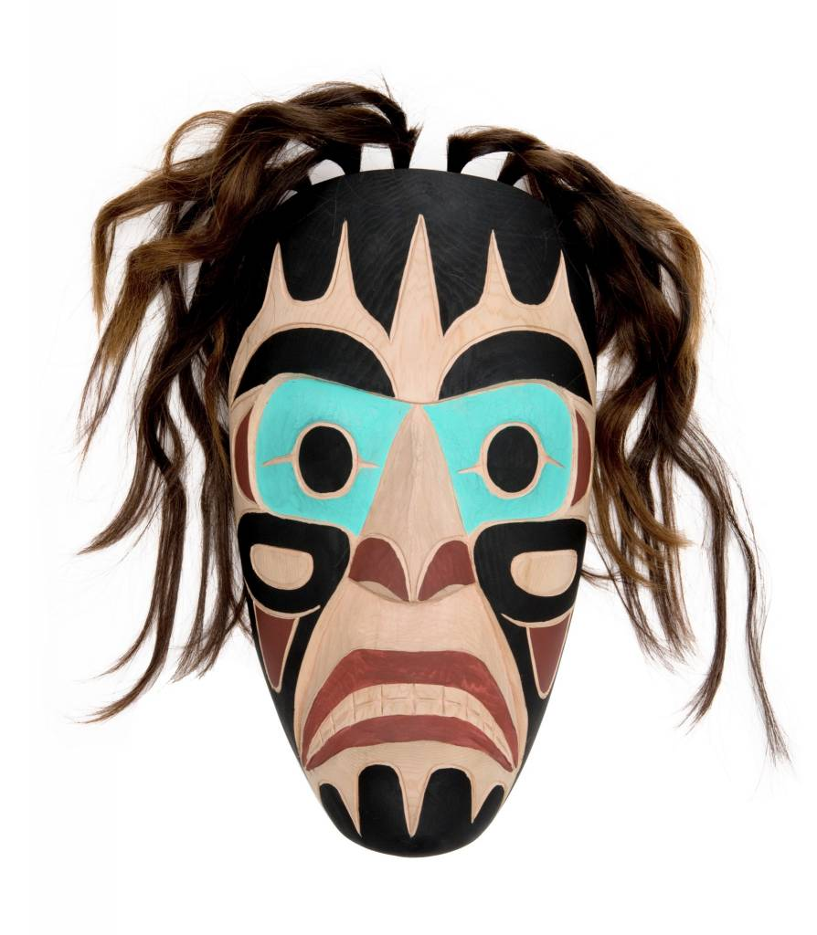 Coast Salish Portrait Mask
