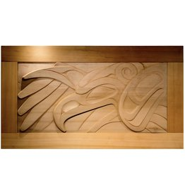 Thunderbird Cedar Wall Panel by Alano Edzerza