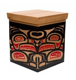 Large Eagle Box painted by Mike Forbes (Haida).