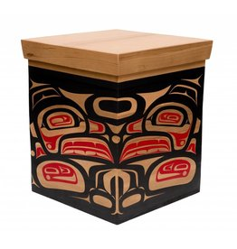 Large painted box by Mike Forbes (Haida).