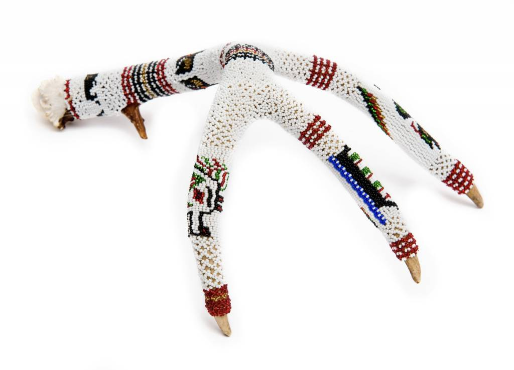 Deer Antler Beaded by Grace Touchie