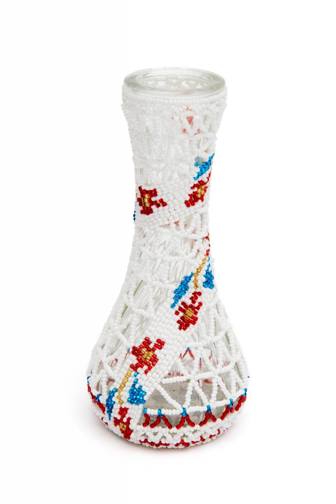 Small Vase Beaded  by Grace Touchie(Nuu chah nulth)