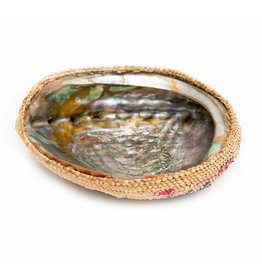 Abalone Shell with Cedar Weaving