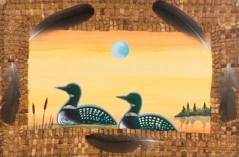 Framed Painting by Brian Grandbois (Dene).