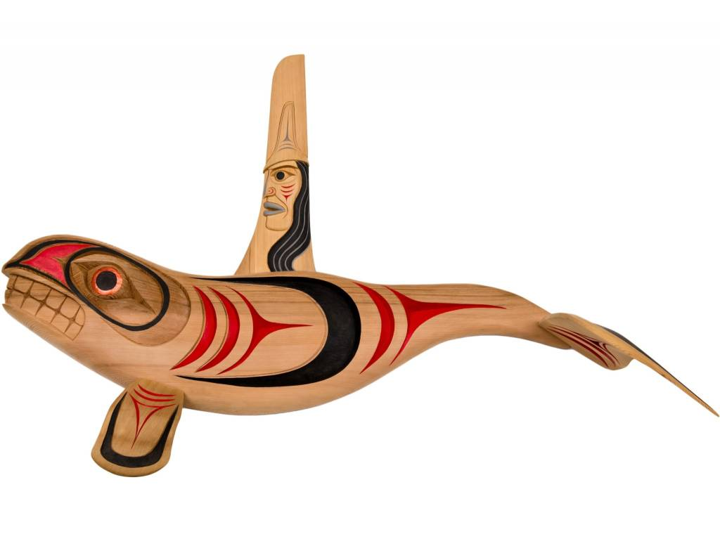 Killer Whale carving by Chris Sparrow (Musqueam / Coast Salish).