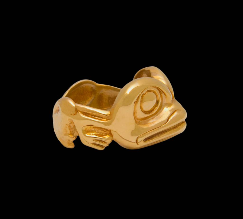 Casted 14 Kt Gold Frog Ring by Richie Baker