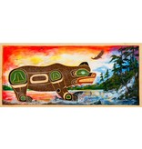 'Fishing Bear' Wall Panel by John Spence (Squamish, Coast Salish).