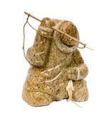 Soapstone Inuit Hunter carved by Gilbert Daniels (Dene)