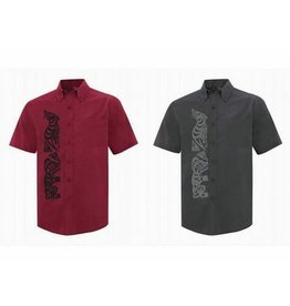 Men's Short Sleeve Dress Shirt with W Good Serpent Bear Design