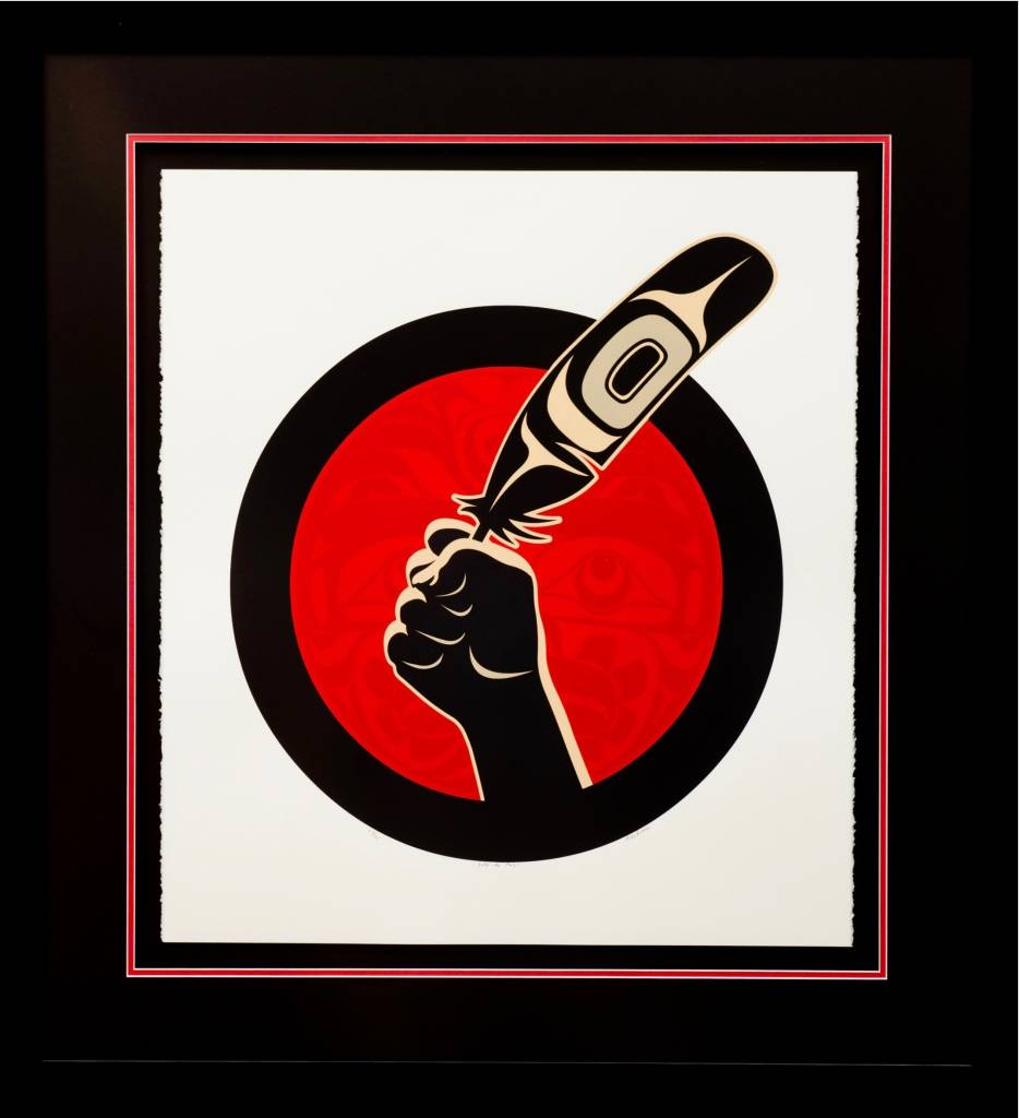 """Idle No More"" Framed Limited Edition Print by Andy Everson"