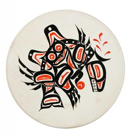 Hand Drum with Owl / Killer Whale Design by Keith Morgan