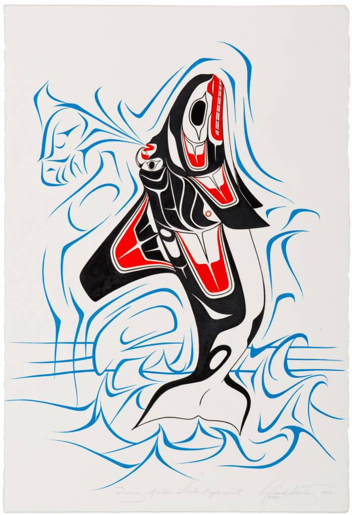 tsaw Original Painting 'Orca' by Richard Shorty
