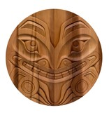 "26"" Round Coast Salish Bear Panel"