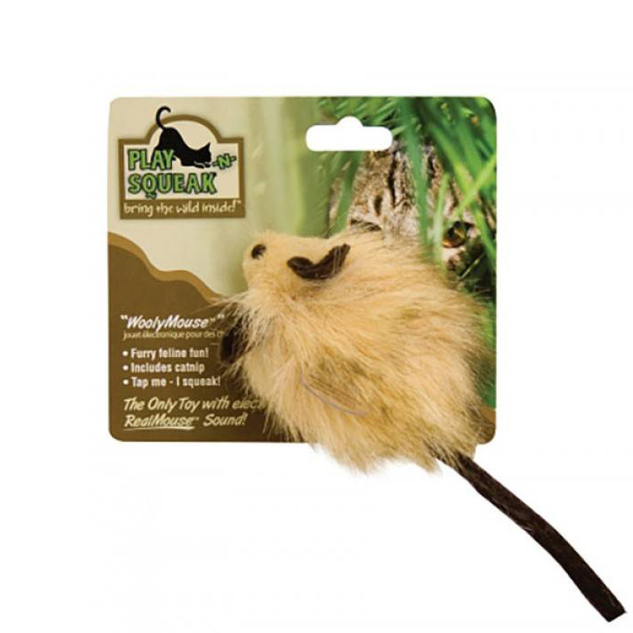 Play-N-Squeak Wooly Mouse