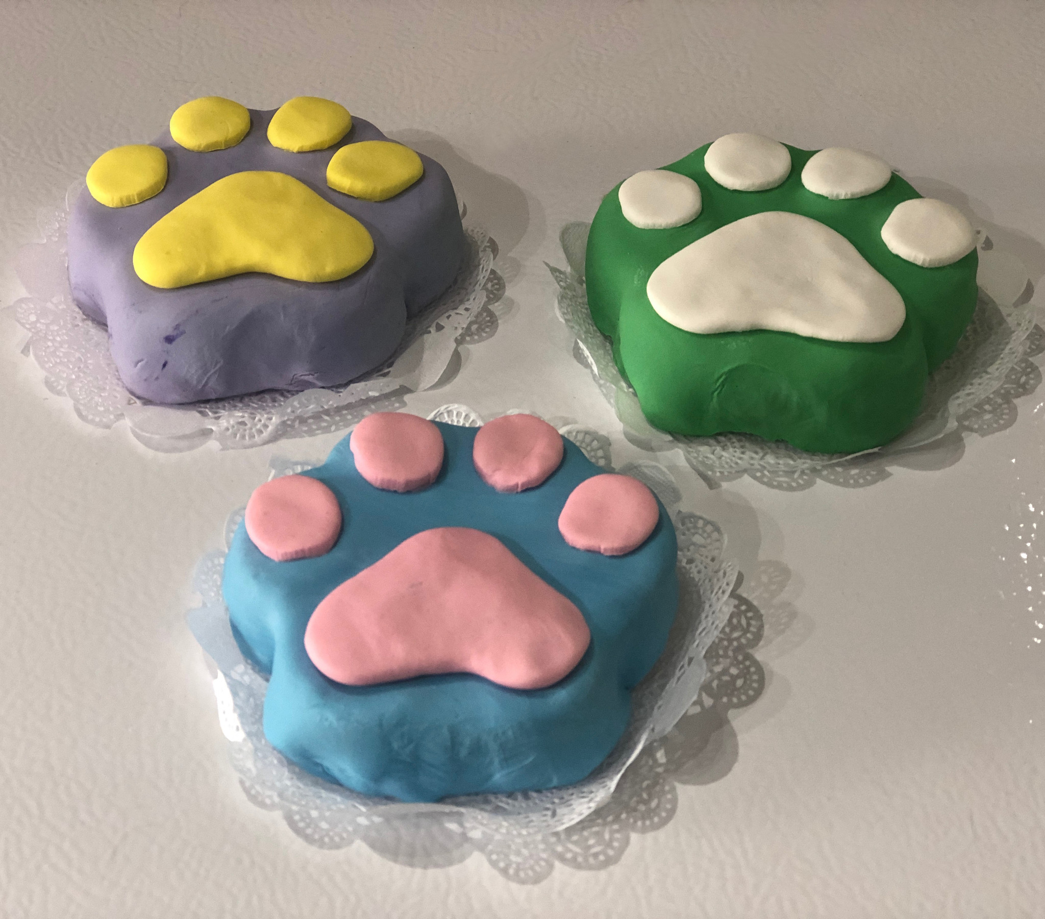 Pawty Paw Dog Birthday Cakes