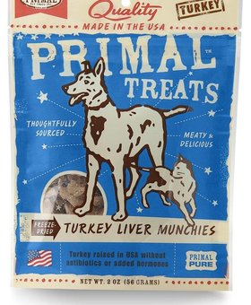 Primal Turkey Liver Munchies 2 OZ