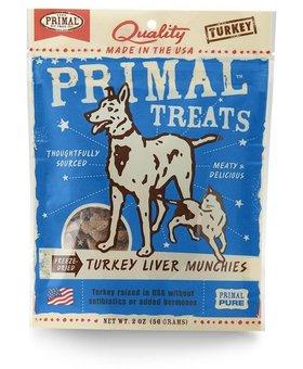 Primal Turkey Liver Munchies 2 OZ