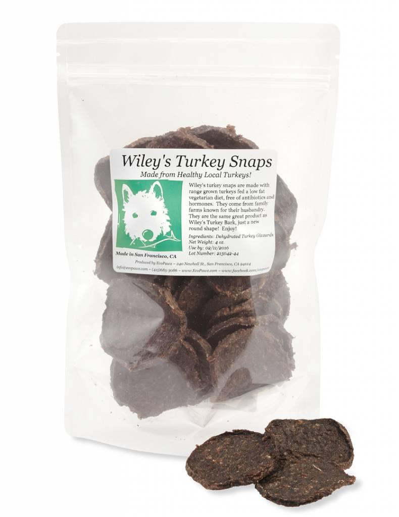 ECOPAWZ! Wiley's Turkey Snaps 4OZ
