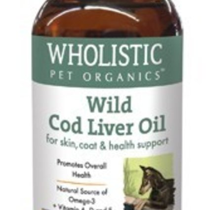 THE WHOLISTIC PET Wholistic Pet Cod Liver Oil 8 OZ