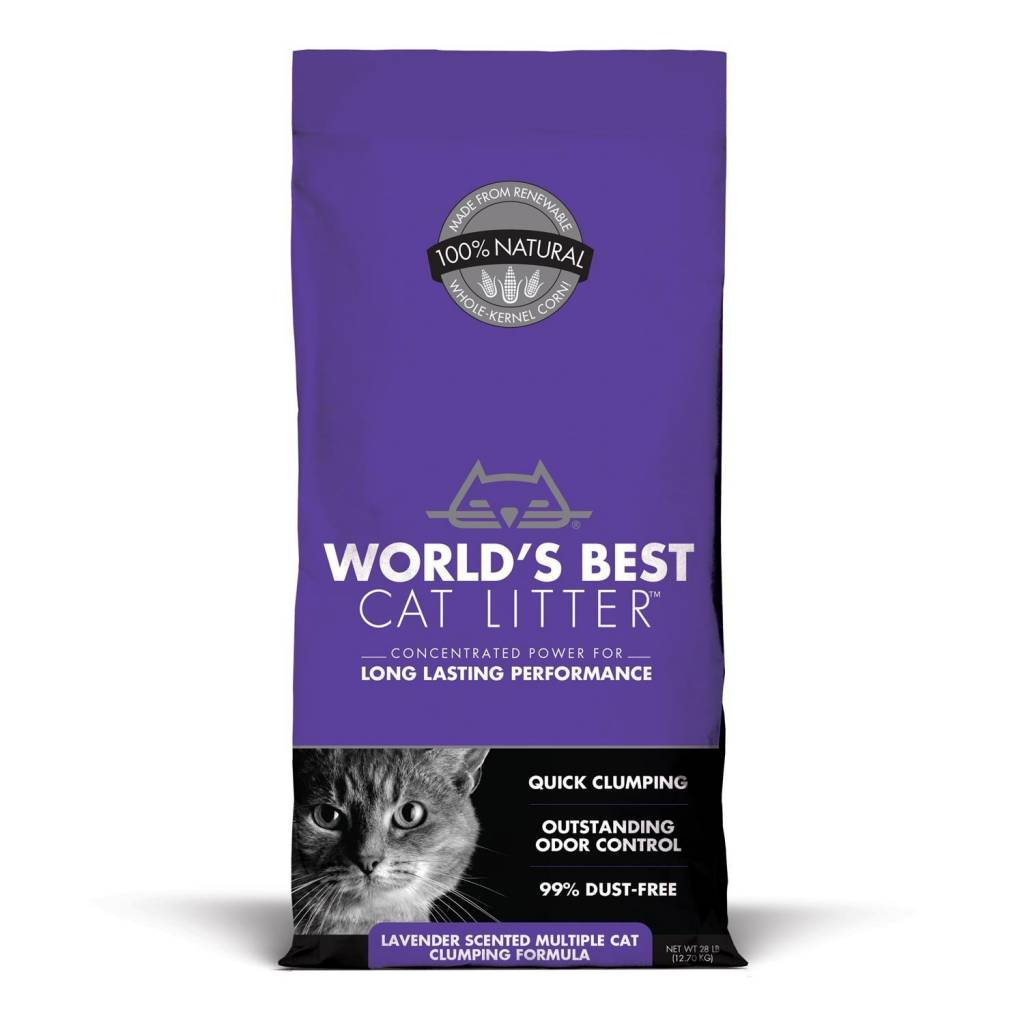 World's Best Lavender Scented Multiple Cat Clumping Litter
