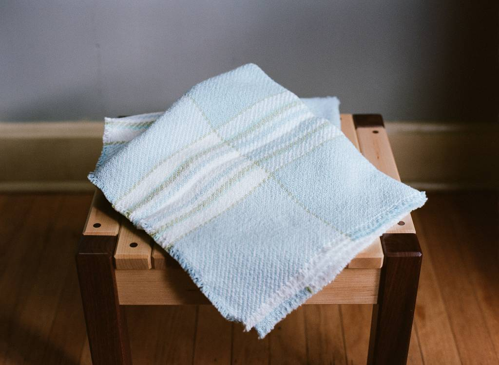 Berea College Crafts Baby Blanket Blue Plaid