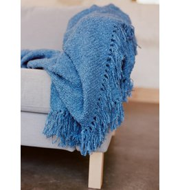 Berea College Crafts Cottage Throw Blue
