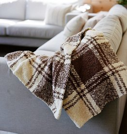 Berea College Crafts Cottage Throw Chocolate Plaid