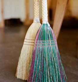 Berea College Crafts Shaker Braid Broom Multi-Colored