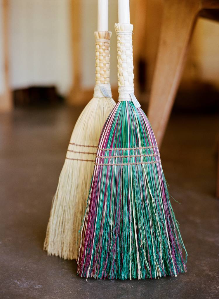 Berea College Crafts Shaker Braid Broom Multi-Colored