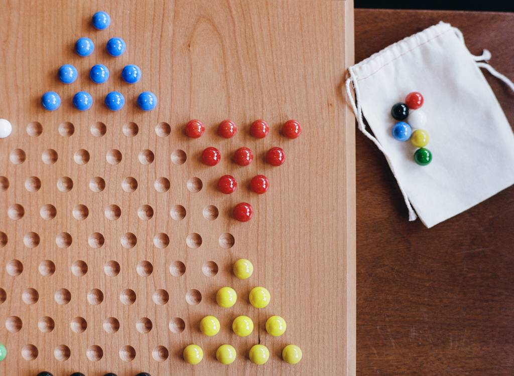 Chinese Checkers Marbles w/ bag-1