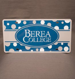 Stockdale Berea College Polka Dot License Plate